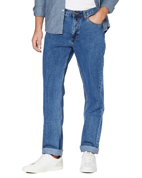 Farah Darwood Rigid Denim Jeans Light Blue