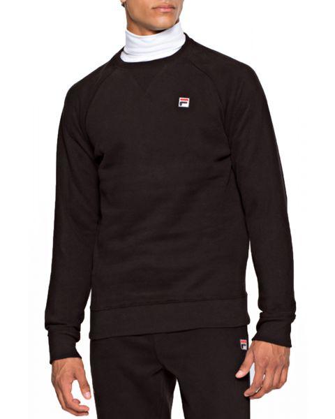 Fila Men's Filippo Logo Crew Neck Sweatshirt Black | Jean Scene