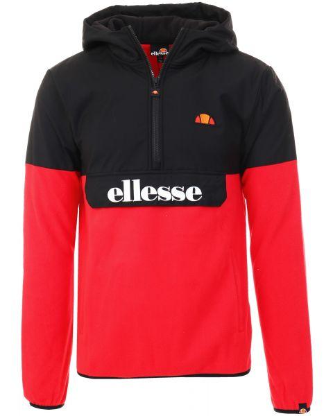 Ellesse Men's Freccia Overhead Anorak Jacket Red/Black   Jean Scene