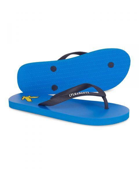 Lyle & Scott Men's Flip Flops Bright Royal Blue | Jean Scene