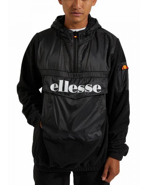 Ellesse Men's Gazzo Overhead Anorak Jacket Black | Jean Scene