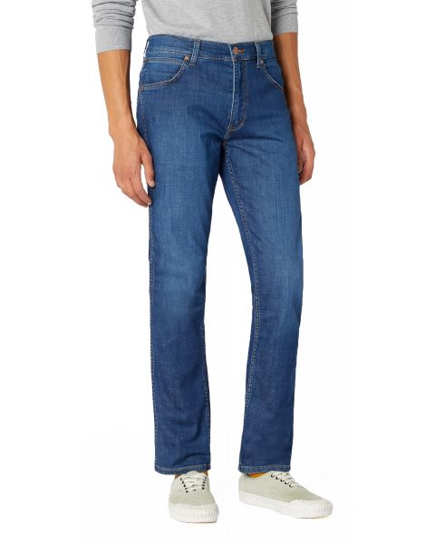 Wrangler Greensboro Modern Straight Denim Jeans Sirocco Blue | Jean Scene