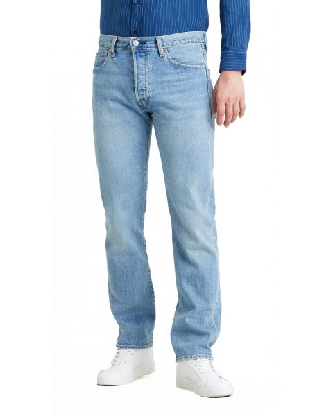 Levis 501 Denim Jeans Basil Sand Blue | Jean Scene