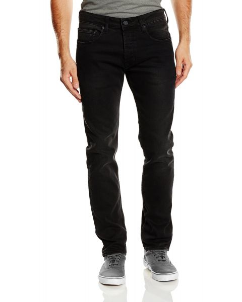 Duck and Cover Harlequin Slim Fit Stretch Denim Jeans Black | Jean Scene