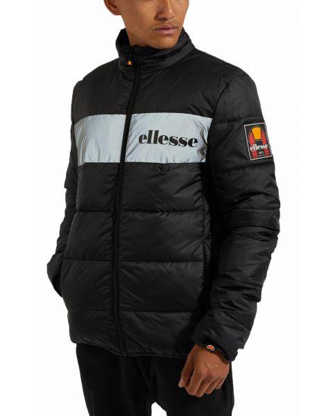 Ellesse Mens Mens Illo Padded Reflective Jacket Black | Jean Scene