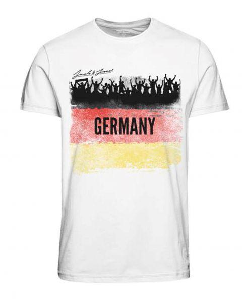 Jack & Jones Euros Germany T-Shirt White | Jean Scene