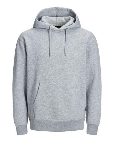Jack & Jones Core Soft Hooded Sweatshirts Light Grey