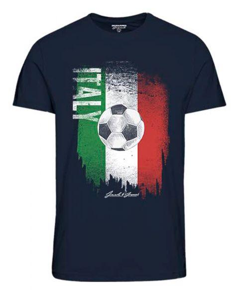 Jack & Jones Euros ITALY T-Shirt Navy | Jean Scene