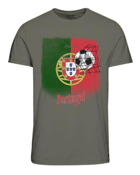 Jack & Jones Euros PORTUGAL T-Shirt Dusty Olive | Jean Scene