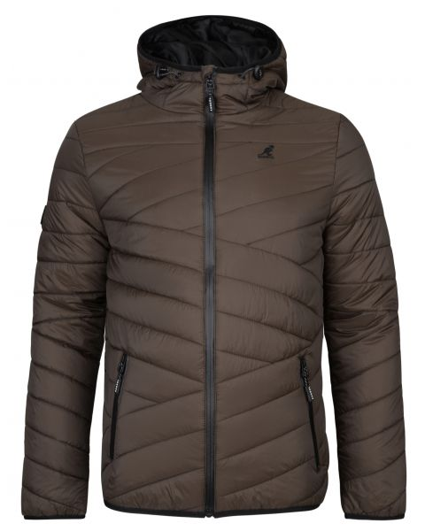 Kangol Winter Padded Jacket Dark Khaki | Jean Scene