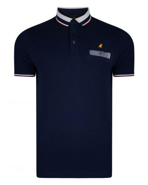 Kangol Muse Polo Pique Shirt Navy | Jean Scene