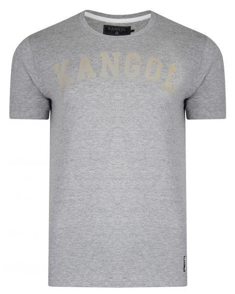 Kangol Study Crew Neck Cotton Plain T-shirt Grey Marl | Jean Scene