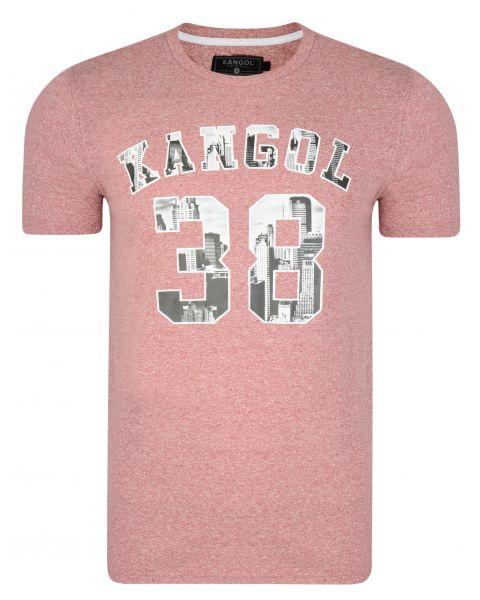Kangol Rocka Crew Neck Cotton Logo T-shirt Red | Jean Scene
