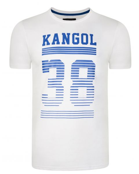Kangol Handley Crew Neck Cotton Logo T-shirt White | Jean Scene