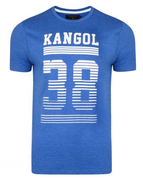 Kangol Handley Crew Neck Cotton Logo T-shirt Marine Marl | Jean Scene