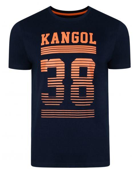 Kangol Handley Crew Neck Cotton Logo T-shirt Navy | Jean Scene