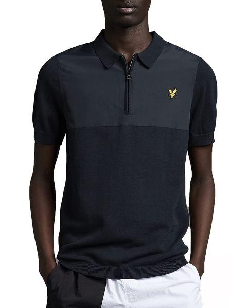 Lyle & Scott Knitted Polo Shirt Dark Navy