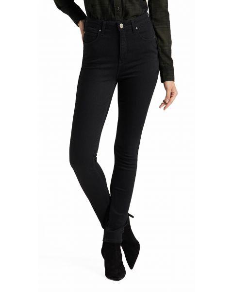 LEE Scarlett Women's Ultra Hi Bo Stretch Jeans Black Rinse | Jean Scene