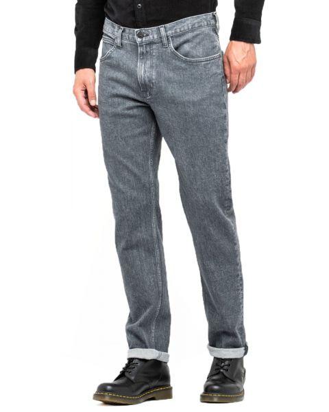 Lee Brooklyn Straight Stretch Jeans Used Grey | Jean Scene