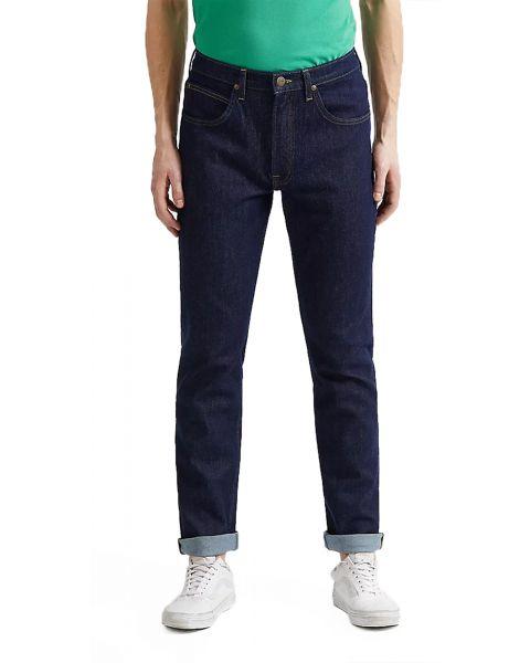 Lee Brooklyn Stretch Regular Rinse Blue Denim Jeans | Jean Scene