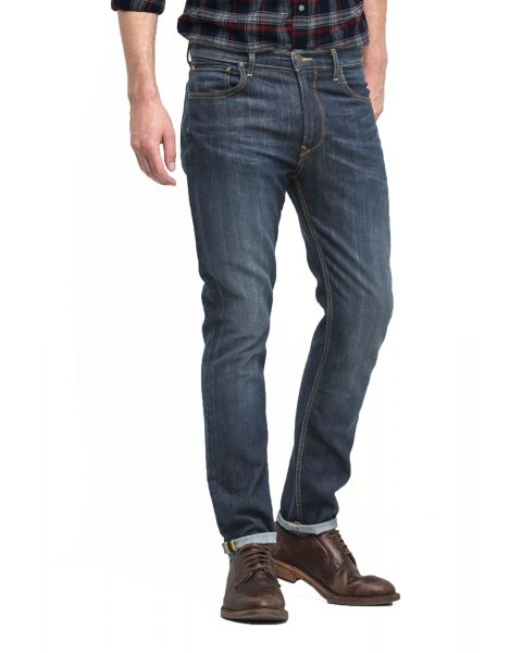 Lee Rider Regular Slim Fast Blue Denim Jeans | Jean Scene