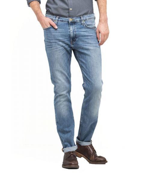 Lee Rider Regular Slim Light Shade Blue Denim Jeans | Jean Scene