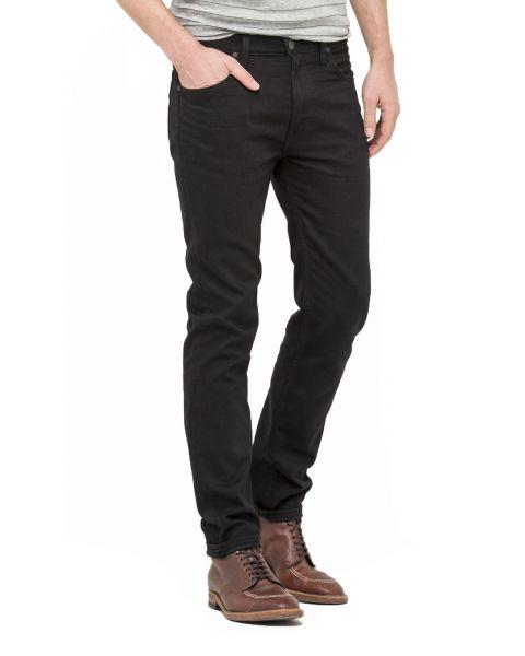 Lee Rider Regular Slim Black Rinse Black Denim Jeans   Jean Scene