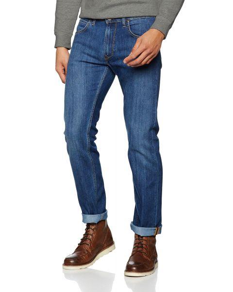 Lee Daren Zip Regular Slim True Blue Blue Denim Jeans | Jean Scene