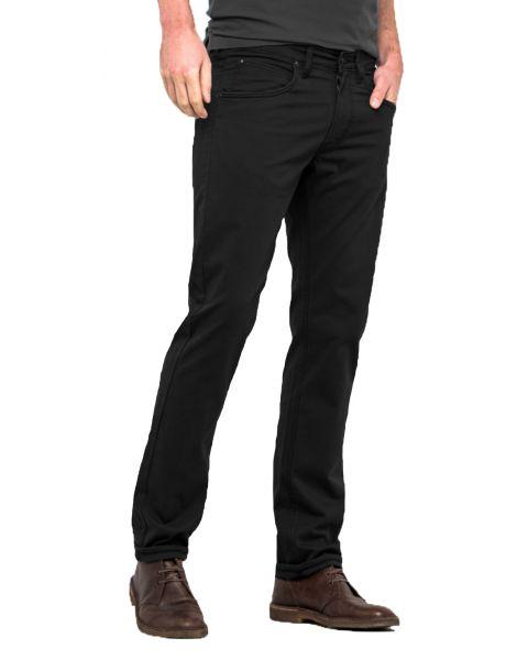 Lee Daren Zip Regular Slim Black Chino Jeans   Jean Scene