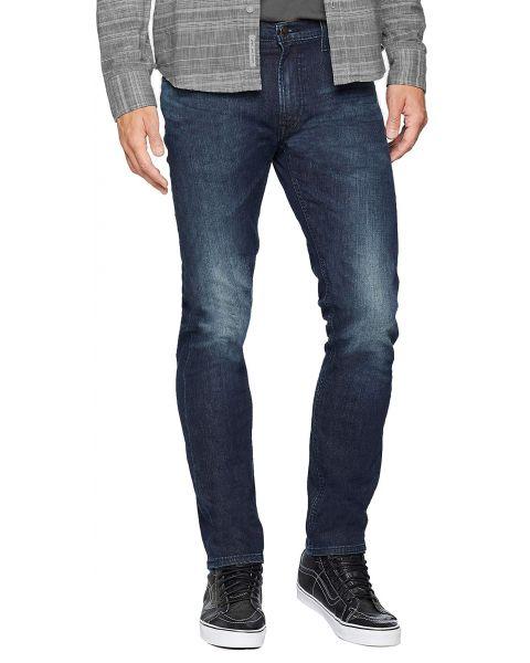Lee Daren Zip Regular Slim Bolt Blue Blue Denim Jeans   Jean Scene