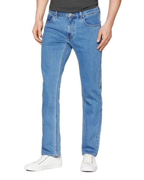 Lee Daren Zip Regular Slim Light Stone Blue Denim Jeans   Jean Scene