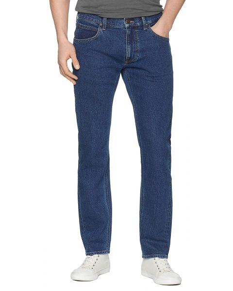Lee Daren Zip Regular Slim Dark Stone Blue Denim Jeans   Jean Scene