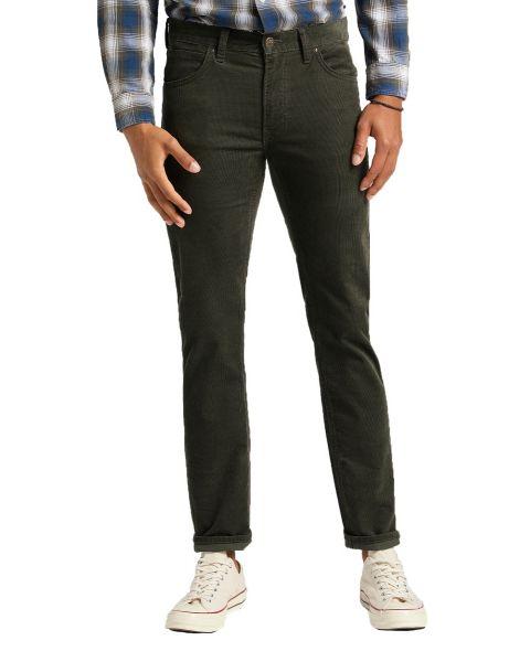 Lee Daren Zip Regular Slim Corduroy Jeans Serpico Green | Jean Scene