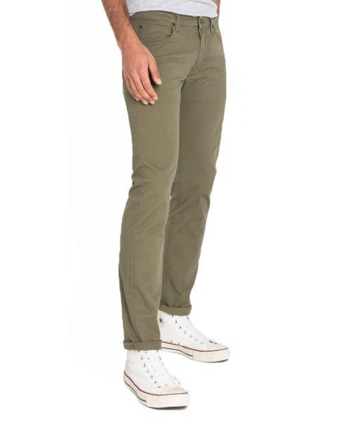 Lee Daren Zip Regular Slim Ivy Green Chino Jeans | Jean Scene