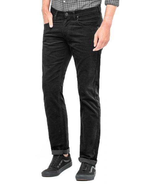 Lee Daren Zip Regular Slim Black Corduroy Jeans | Jean Scene