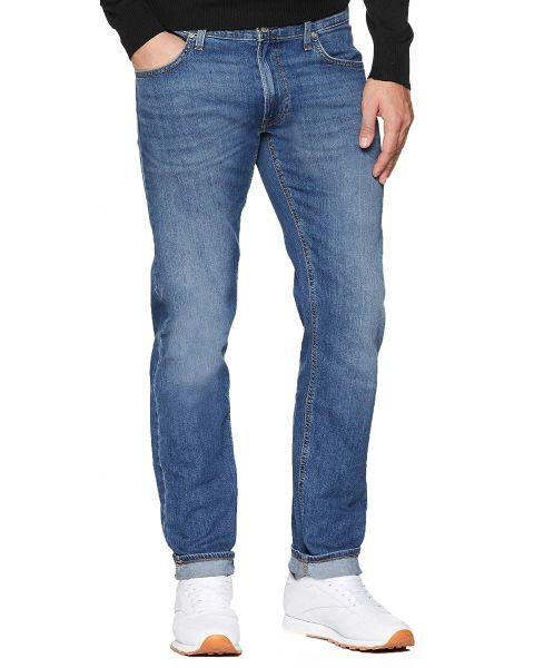 Lee Daren Zip Regular Slim Light Blue Worn Blue Denim Jeans   Jean Scene