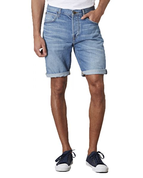 Lee 5 Pocket Denim Shorts Dark Blue Spritz   Jean Scene