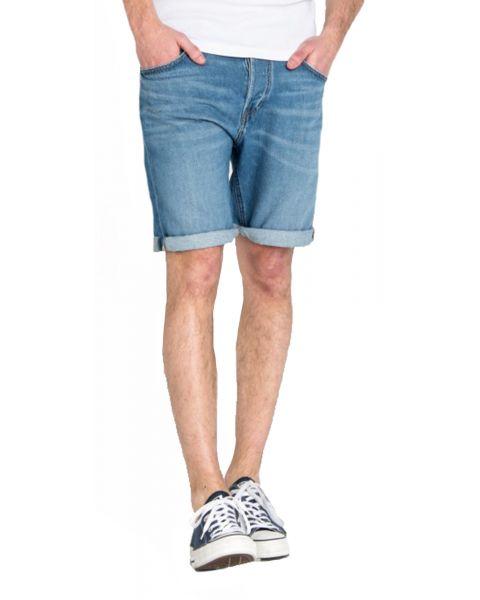 Lee 5 Pocket Denim Shorts Dark Blue Flick Mid   Jean Scene