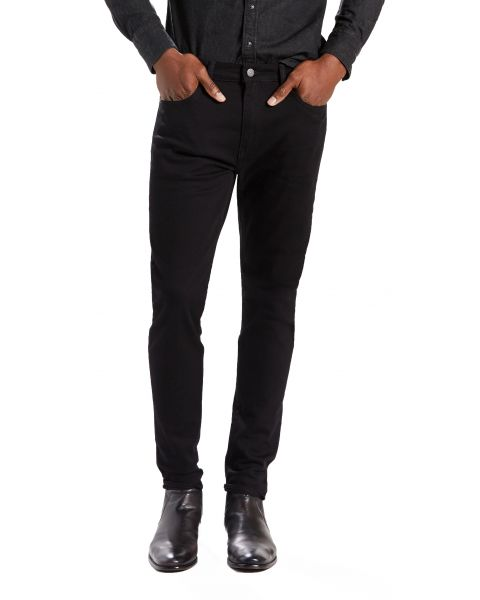 Levis 512 Denim Jeans Dark Black Nightshine | Jean Scene