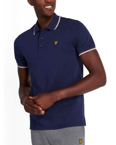 Lyle & Scott Casual Short Sleeve Polo Shirt Navy/Blue