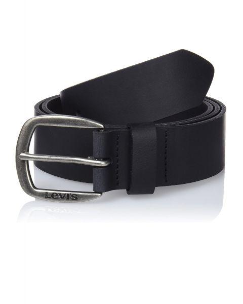 Levi's® Andelle Leather Logo Belt Black
