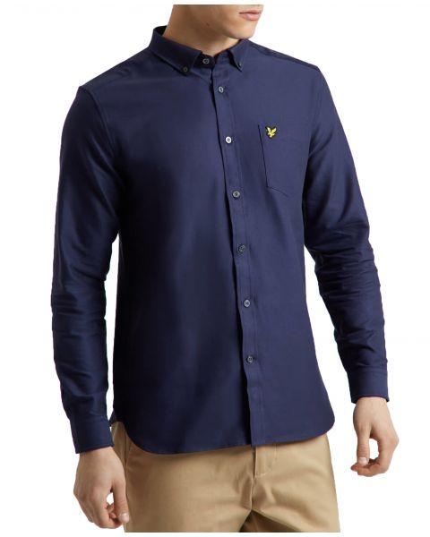 Lyle & Scott Oxford Shirt Long Sleeve Navy | Jean Scene