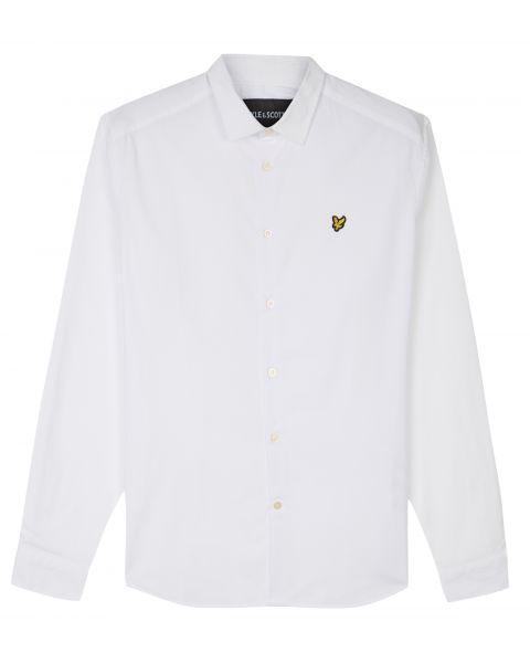 Lyle & Scott Poplin Shirt Long Sleeve White | Jean Scene