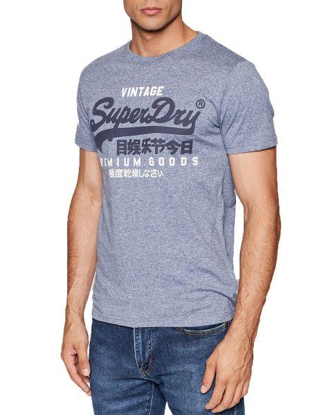 Superdry Vintage Logo Crew Neck T-Shirt Midnight Blue Grit