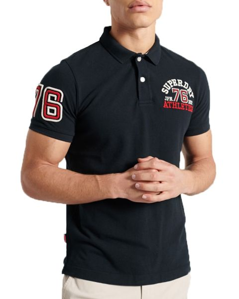 Superdry Classic Superstate Logo Polo Shirt Eclipse