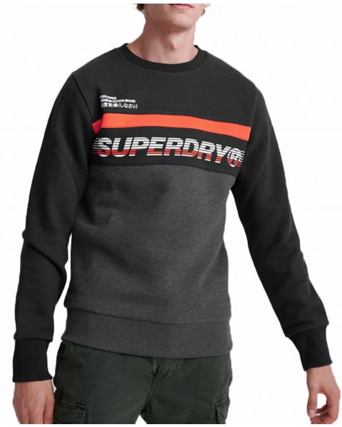 Superdry Worldwide Panel Crew Neck Sweatshirt Nordic | Jean Scene