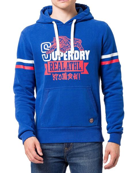 Superdry Bonded Varsity Hooded Sweatshirts Mazarine