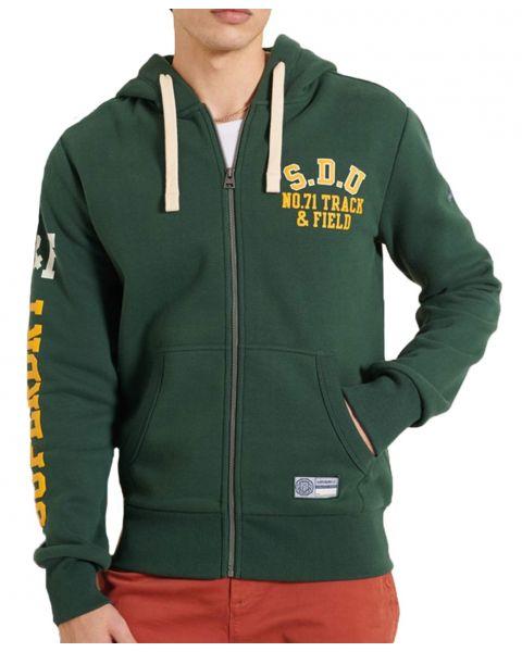 Superdry Track & Field Graphic Zip Hooded Sweatshirts Enamel | Jean Scene