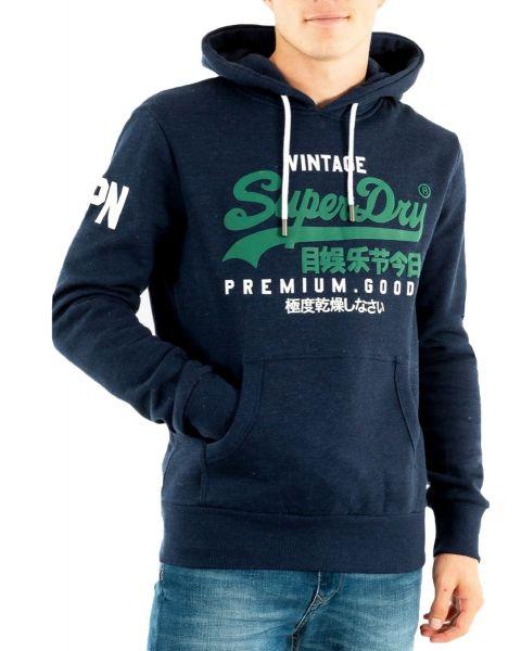 Superdry Vintage Logo Hooded Sweatshirts Midnight Blue