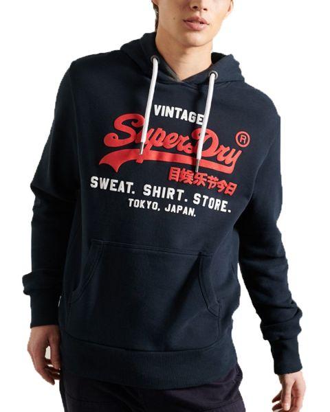 Superdry Sweat Shop Duo Hooded Sweatshirts Eclipse Navy | Jean Scene